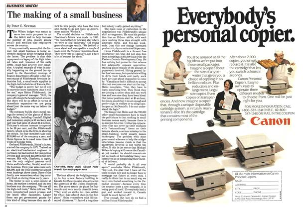Article Preview: The making of a small business, June 1985 | Maclean's