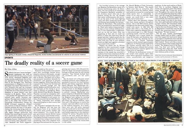 Article Preview: The deadly reality of a soccer game, June 1985 | Maclean's