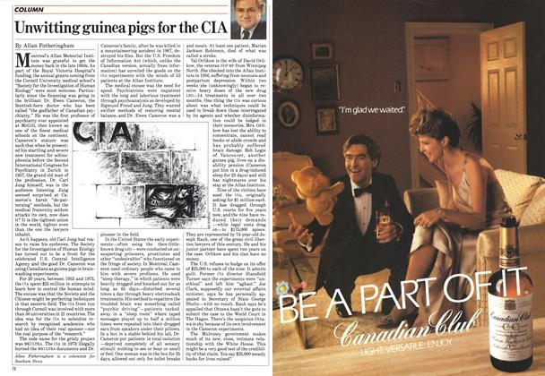 Article Preview: Unwitting guinea pigs for the CIA, June 1985 | Maclean's