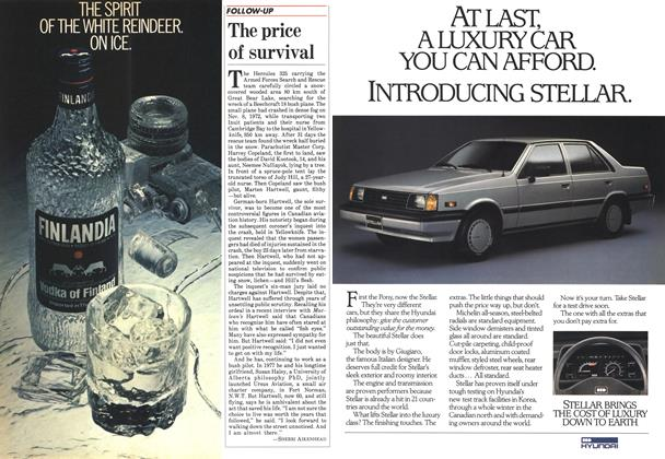 Article Preview: The price of survival, June 1985 | Maclean's