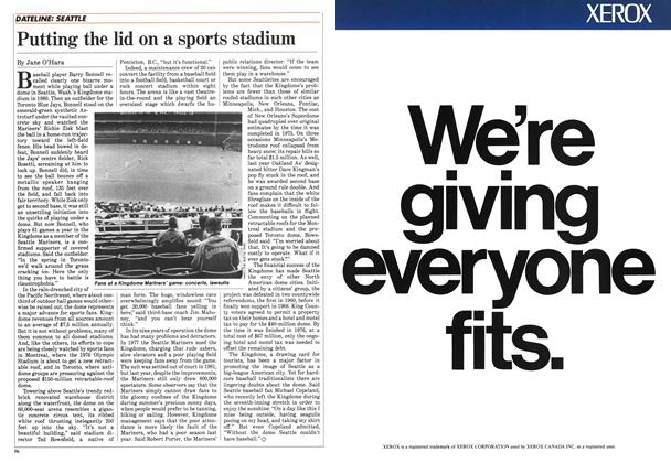 Article Preview: Putting the lid on a sports stadium, June 1985 | Maclean's