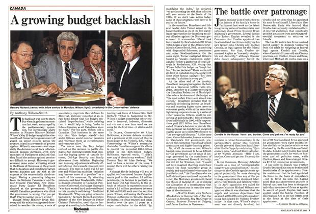 Article Preview: A growing budget backlash, June 1985 | Maclean's