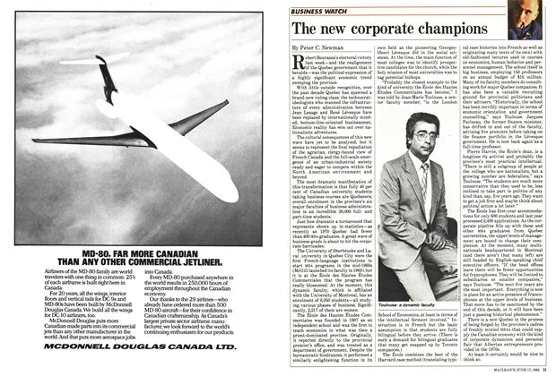 Article Preview: The new corporate champions, June 1985 | Maclean's