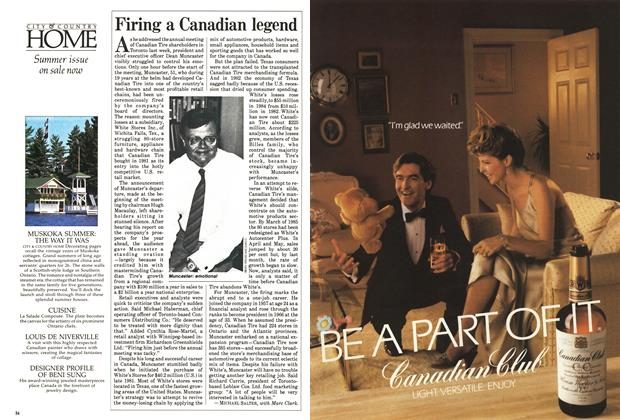 Article Preview: Firing a Canadian legend, June 1985   Maclean's
