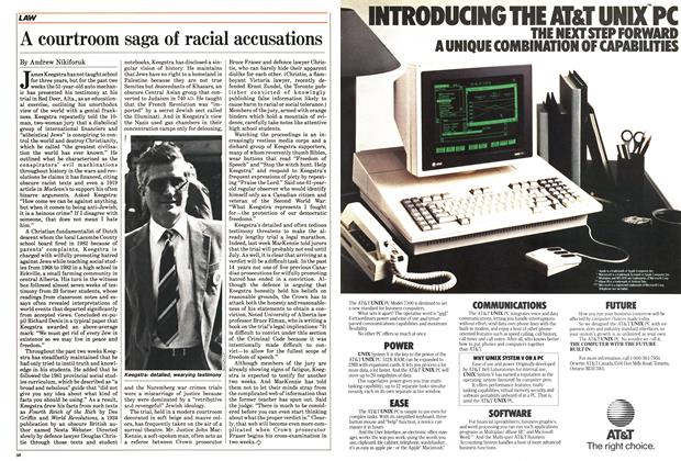 Article Preview: A courtroom saga of racial accusations, June 1985 | Maclean's