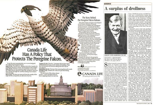 Article Preview: A surplus of drollness, June 1985 | Maclean's