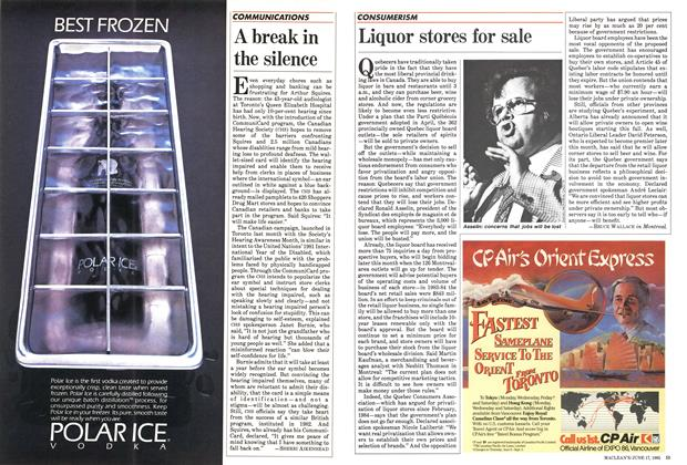 Article Preview: Liquor stores for sale, June 1985 | Maclean's
