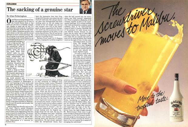 Article Preview: The sacking of a genuine star, June 1985 | Maclean's