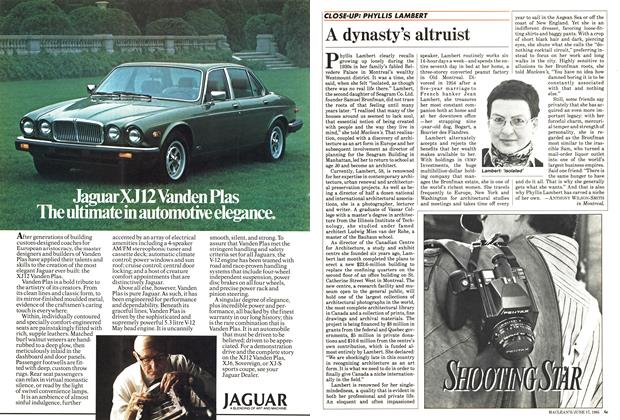 Article Preview: A dynasty's altruist, June 1985 | Maclean's