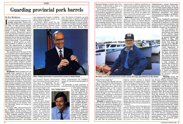 Article Preview: Guarding provincial pork barrels, June 1985 | Maclean's