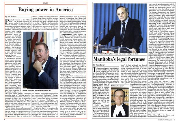 Article Preview: Manitoba's legal fortunes, June 1985 | Maclean's