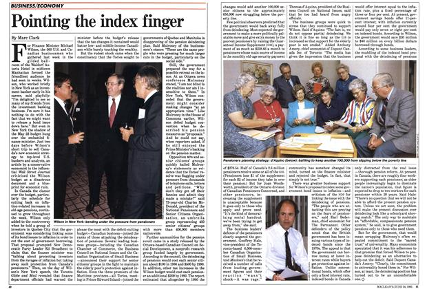 Article Preview: Pointing the index finger, June 1985 | Maclean's