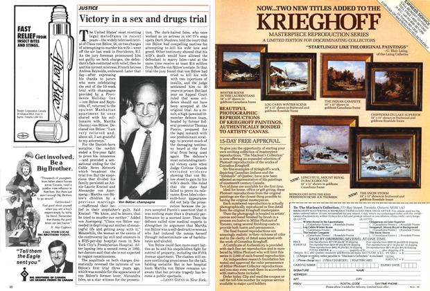 Article Preview: Victory in a sex and drugs trial, June 1985 | Maclean's