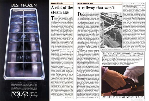Article Preview: A railway that won't, June 1985 | Maclean's