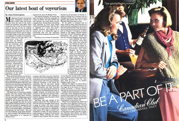 Article Preview: Our latest bout of voyeurism, June 1985 | Maclean's