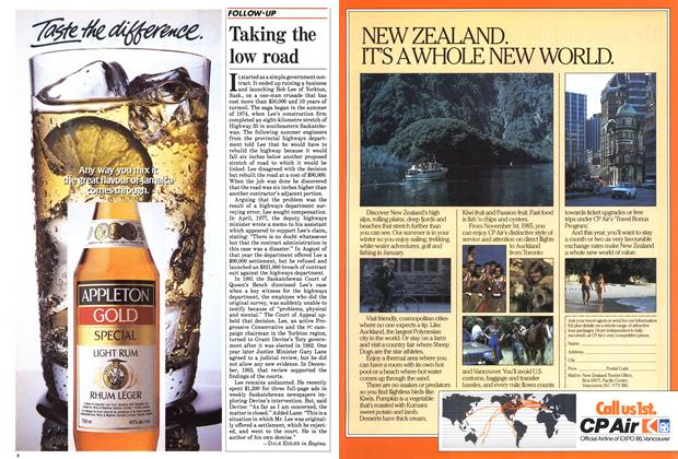 Article Preview: Taking the low road, June 1985 | Maclean's