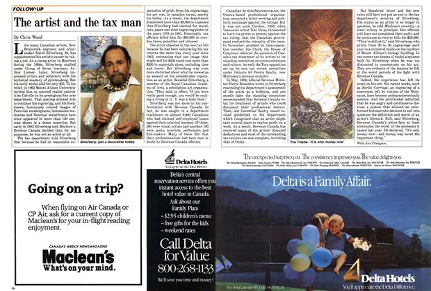 Article Preview: The artist and the tax man, June 1985 | Maclean's