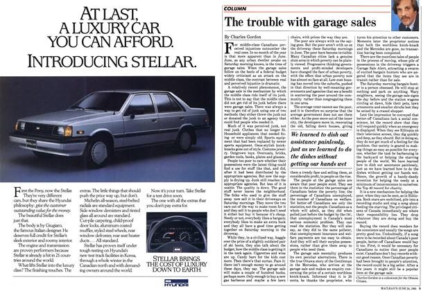 Article Preview: The trouble with garage sales, June 1985 | Maclean's