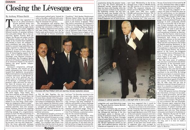 Article Preview: Closing the Lévesque era, July 1985 | Maclean's