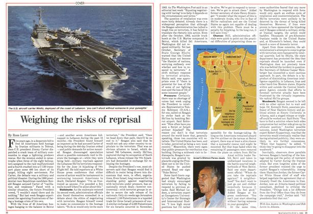 Article Preview: Weighing the risks of reprisal, July 1985 | Maclean's