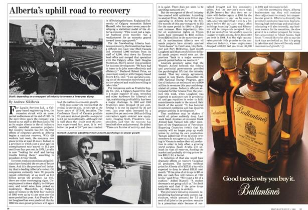 Article Preview: Alberta's uphill road to recovery, July 1985 | Maclean's