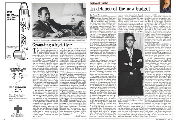 Article Preview: In defence of the new budget, July 1985 | Maclean's
