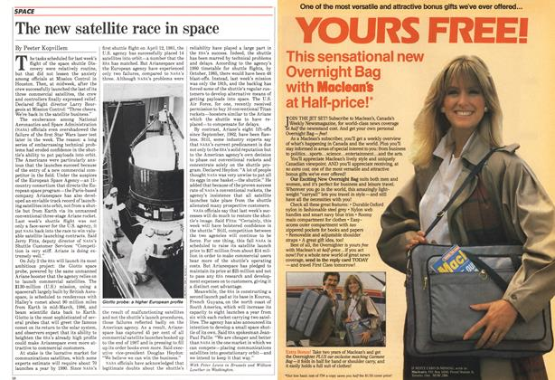 Article Preview: The new satellite race in space, July 1985 | Maclean's