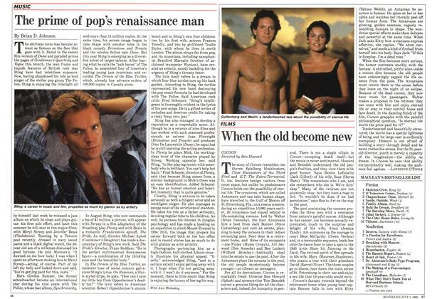 Article Preview: The prime of pop's renaissance man, July 1985 | Maclean's
