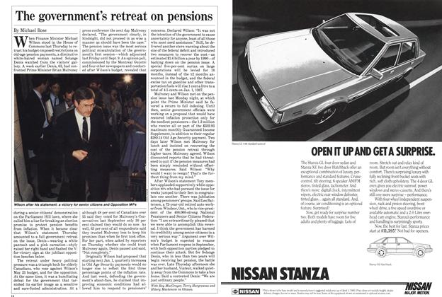 Article Preview: The government's retreat on pensions, July 1985 | Maclean's