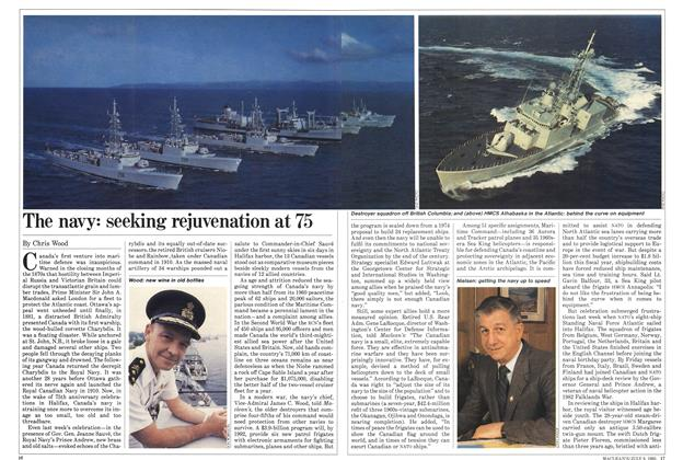Article Preview: The navy: seeking rejuvenation at 75, July 1985 | Maclean's
