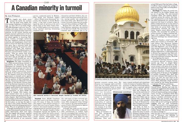 Article Preview: A Canadian minority in turmoil, July 1985 | Maclean's