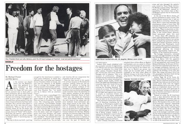 Article Preview: Freedom for the hostages, July 1985 | Maclean's
