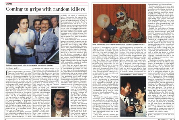 Article Preview: Coming to grips with random killers, July 1985 | Maclean's