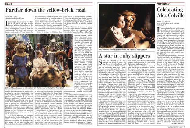 Article Preview: Farther down the yellow-brick road, July 1985 | Maclean's