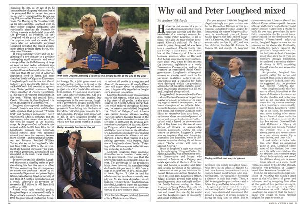Article Preview: Why oil and Peter Lougheed mixed, July 1985 | Maclean's