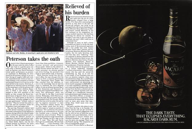 Article Preview: Relieved of his burden, July 1985 | Maclean's