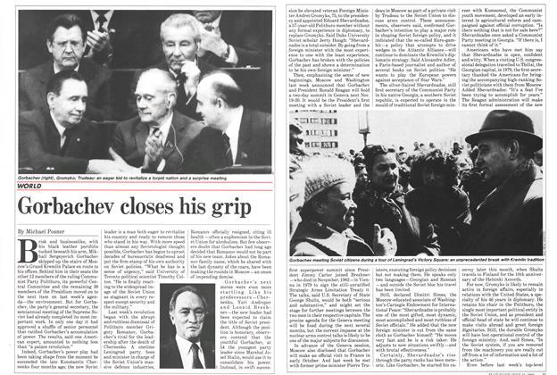 Article Preview: Gorbachev closes his grip, July 1985 | Maclean's