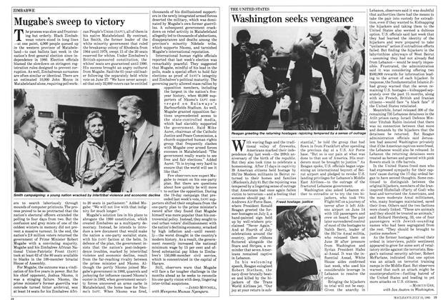 Article Preview: Washington seeks vengeance, July 1985 | Maclean's