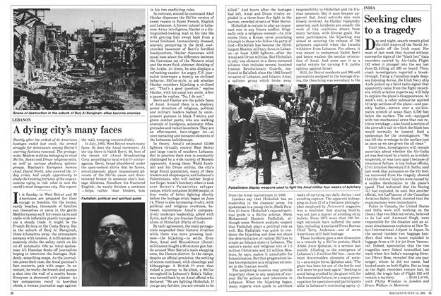 Article Preview: A dying city's many faces, July 1985 | Maclean's