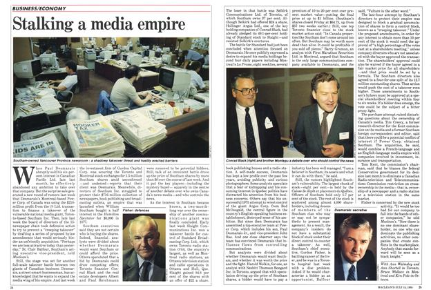 Article Preview: Stalking a media empire, July 1985 | Maclean's