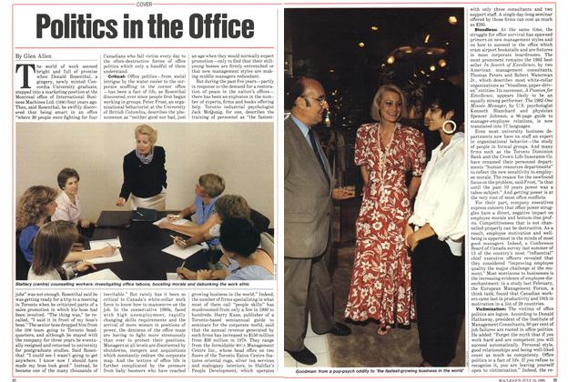Article Preview: Politics in the Office, July 1985 | Maclean's