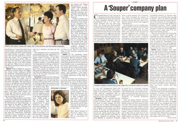 Article Preview: A 'Souper'company plan, July 1985 | Maclean's