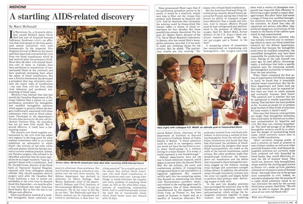 Article Preview: A startling AIDS-related discovery, July 1985 | Maclean's