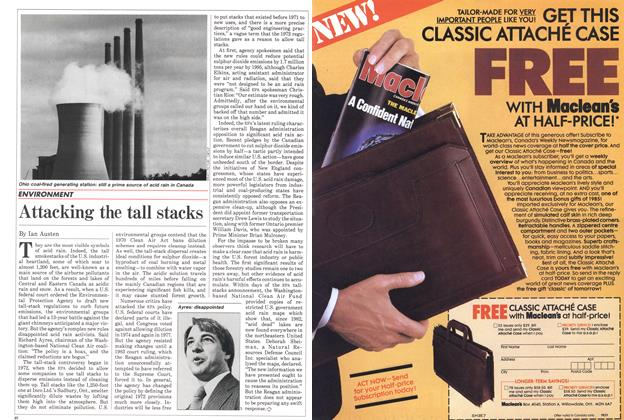 Article Preview: Attacking the tall stacks, July 1985   Maclean's