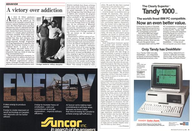 Article Preview: A victory over addiction, July 1985 | Maclean's