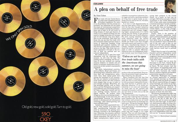 Article Preview: A plea on behalf of free trade, July 1985 | Maclean's