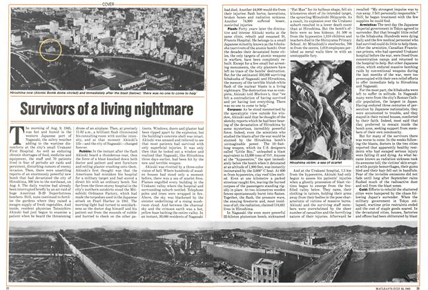 Article Preview: Survivors of a living nightmare, July 1985 | Maclean's