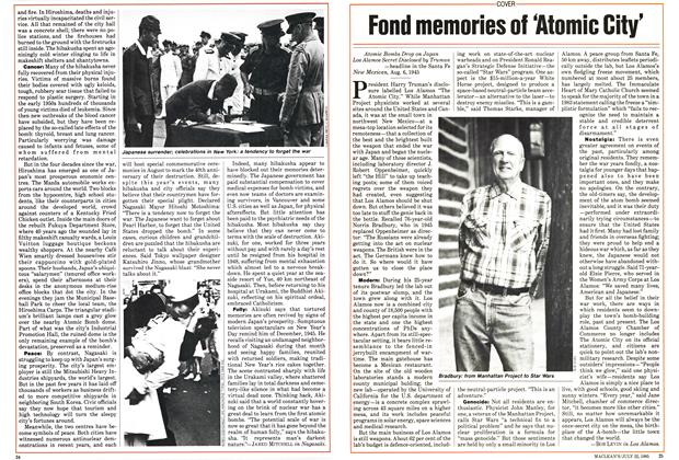 Article Preview: Fond memories of 'Atomic City', July 1985 | Maclean's