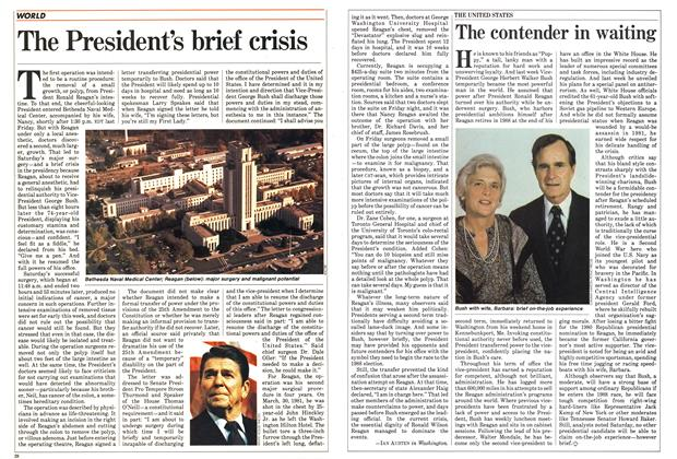 Article Preview: The President's brief crisis, July 1985 | Maclean's
