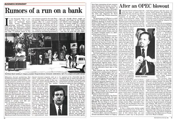 Article Preview: Rumors of a run on a bank, July 1985 | Maclean's